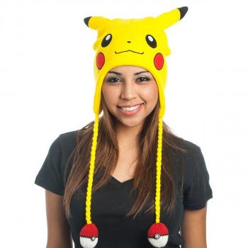 Pokémon Pikachu hat with pompoms Pokeballs