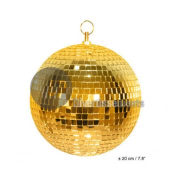 20cm faceted golden ball