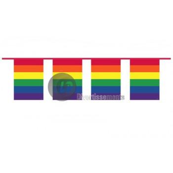 garland of flags rainbow sky 10m