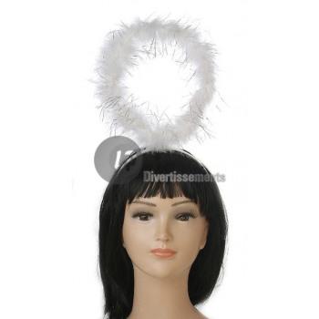 Halo hoofdband van witte engel