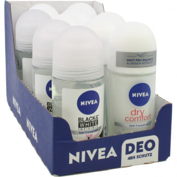 Nivea roll-on deodorant 50ml in 20 display