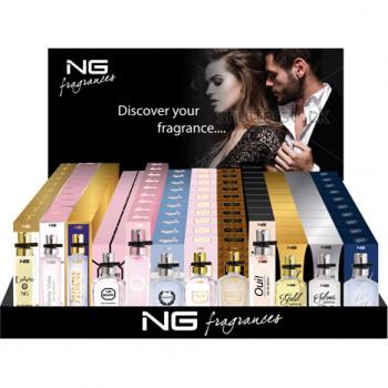 Parfum 15ml NG in 120 Display, allineati