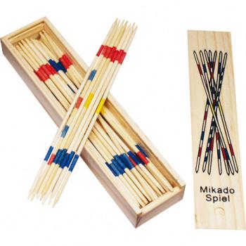 jeu Mikado dans 19,5x4,5cm boîte en bois