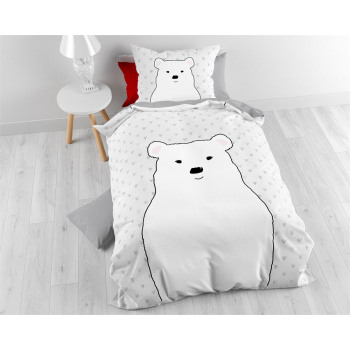 Cute Bear Gray 140 x 200 Gray