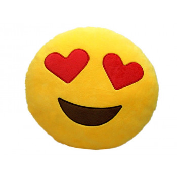 Pillow Fleece Lovers Smiley Ø 35cm