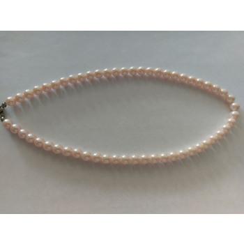 collar de perlas blanco Rosa