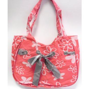 Bolsa de playa de color rosa