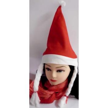 Chapeau de Noël avec des tresses