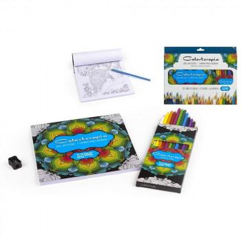 Mandalas Set + 12 Color Pencils + 1 cr size