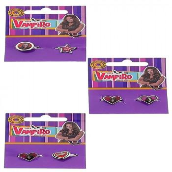 Set de 2 Bagues CHICA VAMPIRO (3 Modèles Assortis)