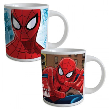 Coffret Mug Céramique SPIDERMAN - (2 Modèles Assor
