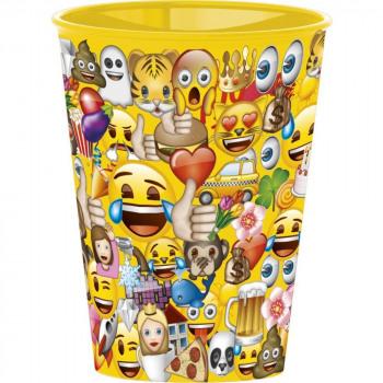 Emoji glass, plastic 260 ml