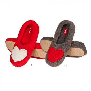 23a0248c4428 Slippers with heart Women SOXO ballerina Appliance from wholesale ...