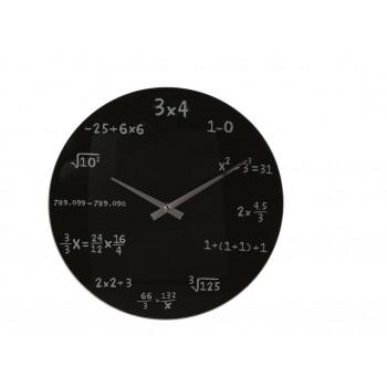 Orologio da parete Math - Nero
