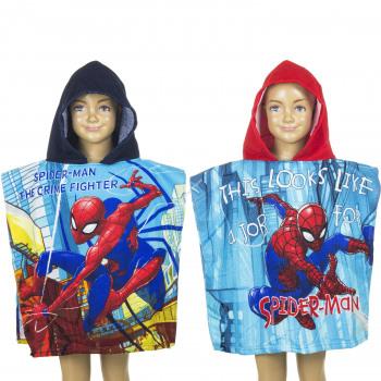 Spiderman Poncho de playa con capucha