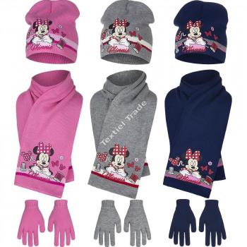 Minnie mutze mit schal und handschuhe