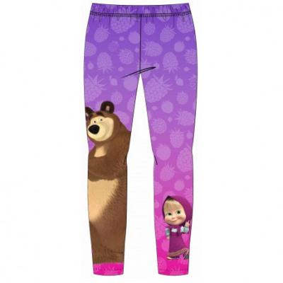 Masha and the Bear Girls Leggings Purple