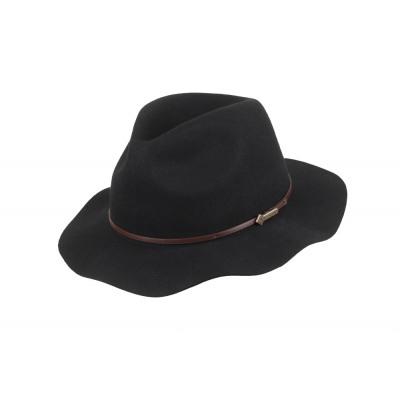 Wollen hoed Albany zwart maat L.