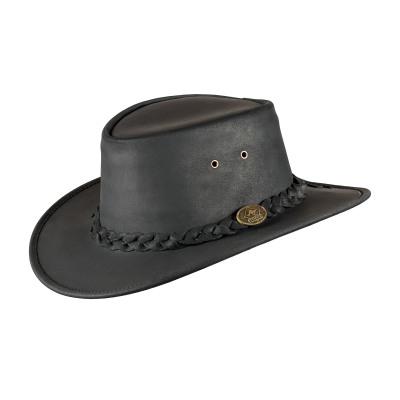 Bushman zwart leren hoed maat M