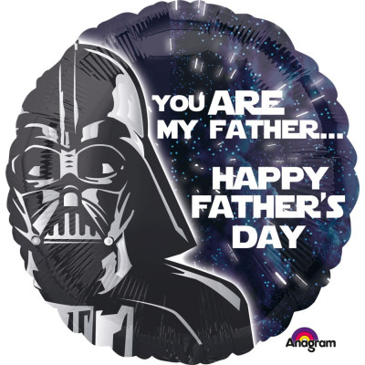 Happy Fathers Day Frame Supershape Foil Balloon