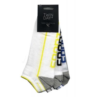 conjunto de 3 calcetines cortos hombre, deporte sq del