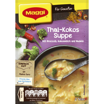 Maggi for connoisseurs 2t thai kokossuppe bag from wholesale