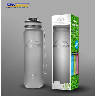 Botella deportiva shaker bpa free gris 1000ml