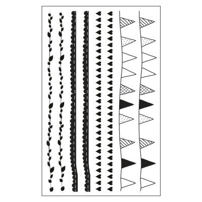 Bambus Metall ... Beutel 2 Bogen Deko-Abziehmotive für Glas