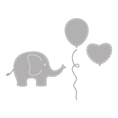 stamping template set baby elephant 4 pieces from wholesale and