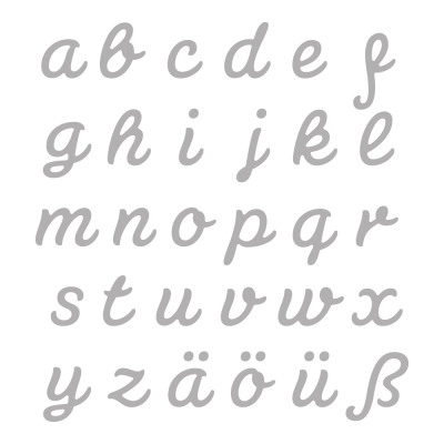 stamping template set connected alphabet 30 pie from wholesale