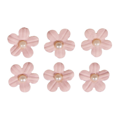 Deco Sticker Paper Flowers M Half Pearl Ros 2 From Wholesale