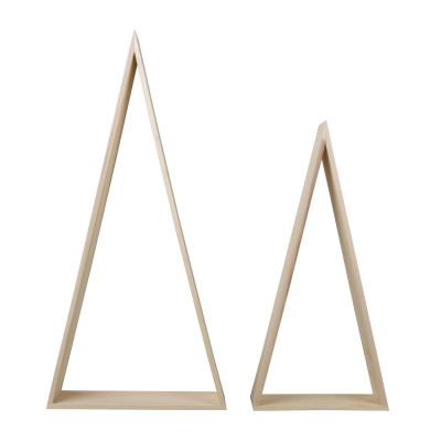 Wood Frame, Triangle, FSC Mix Credit, 2 pieces from wholesale and import