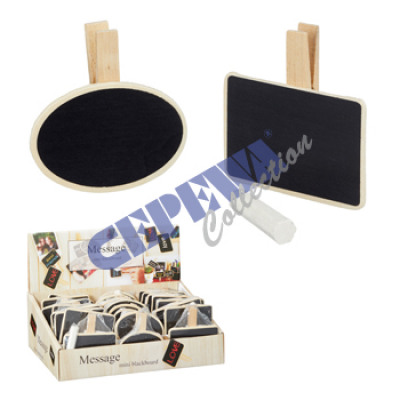 Memoboard m. Clip and chalk, 2 / s