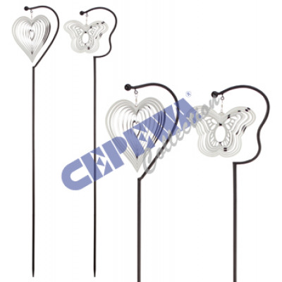 gartenstecker windspiel edelstahl, gartenstecker windspiel 3d, edelstahl, 2/s, ca.120 aus großhandel, Design ideen