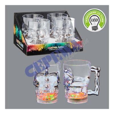 LED party glasses 'Skull', approx. 400ml,