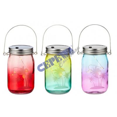 LED Deko Glas \'Tropical Summer\', m.Bügel, 3/s, 13 aus Großhandel und ...