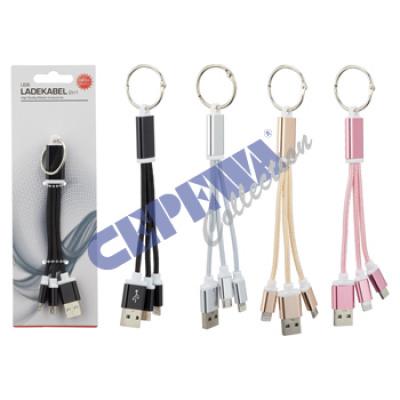 Kabel do ładowania USB, 2w1, typ C, 4 / s na karci
