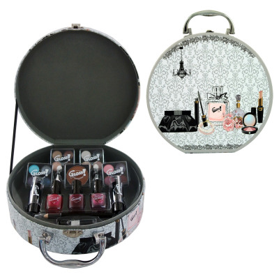 Gloss! Vintage Style Makeup Case - 25pc