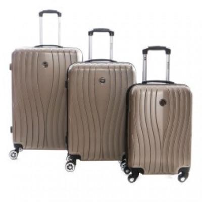 Suitcase Set of 3 Unisex SWEENY CHAMPAGNE 011 SET