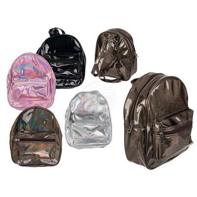 Backpack, metallic look, approx. 28 x 23 x cm