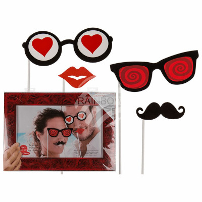 Party Photo Disguise on Stick, Valentine, (2x B