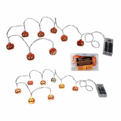 Lights, pumpkin, color changing with 8 LED, c