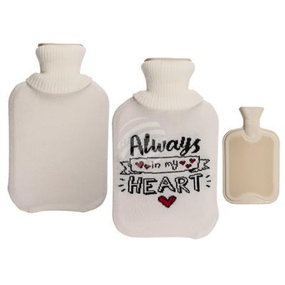 White hot water bottle, Always in my Heart