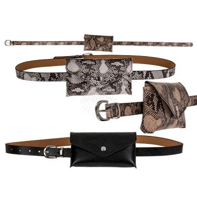 Belt bag, Snake design, approx. 17 x 10 cm, belt