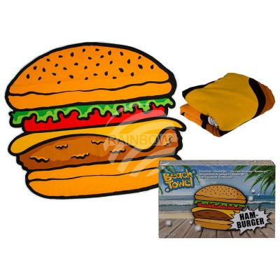Beach towel, hamburger, 100% polyester