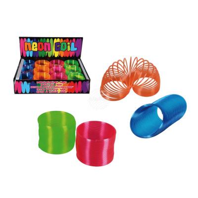 Plastikowa spirala, neon, 7,5 cm, 4-kolorowy sorto