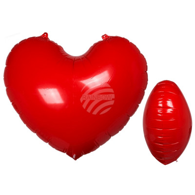 Inflatable, red heart, approx. 110 x 90 cm, in pac