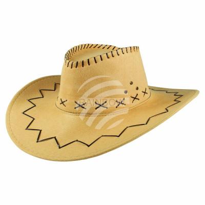 Cappello Cowboy Motivo zig zag giallo da ingrosso e import a9fa7a388856