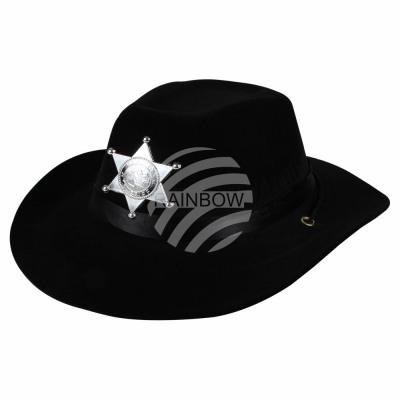 Cappello Cowboy monocolore con nastro largo e stel da ingrosso e ... e472dfe73774
