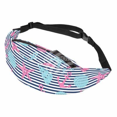 Waist bag Hipbag stripes with symbols maritime